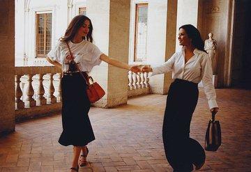 Catherine Zeta Jones ile kızı Cary Douglas Fendi için kamera karşısında