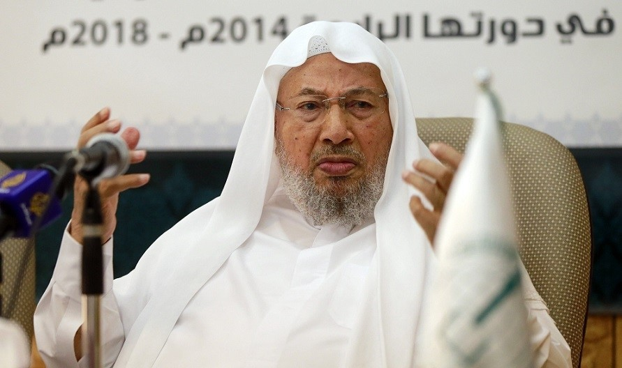 Chairman of the International Union of Muslim Scholars Youssef al-Qaradawi speaks during a news conference in Doha June 23, 2014. (REUTERS Photo)