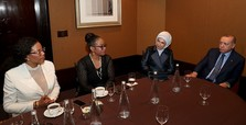 Erdoğan meets daughters of Malcolm X in New York