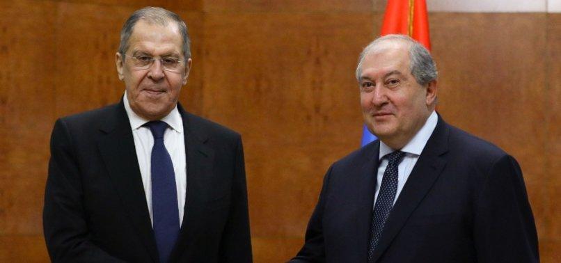 ARMENIA REAFFIRMS COMMITMENT TO KARABAKH DEAL: RUSSIAN FM LAVROV