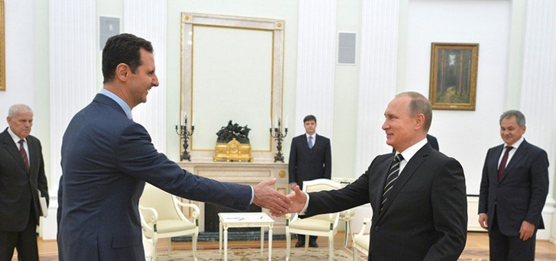 SITUATION FAVORABLE FOR POLITICAL PROCESS IN SYRIA, PUTIN SAYS AFTER MEETING WITH ASSAD