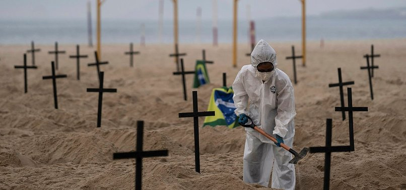 BRAZIL REGISTERS 194 COVID-19 DEATHS ON SUNDAY
