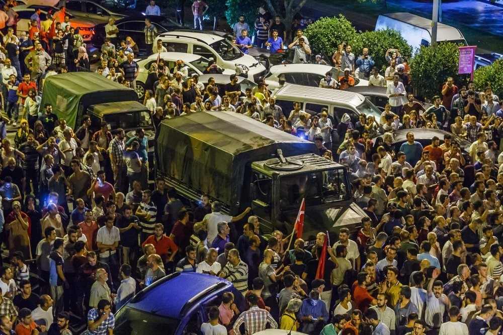 People surrounded military trucks at AK Party offices on the coup night. Their strong resistance ultimately led to the failure of the putschists.