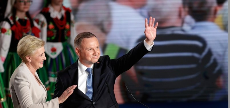DUDA WINS 1ST ROUND OF POLANDS PRESIDENTIAL ELECTION