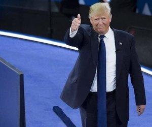 Donald Trump'ın kravatı sosyal medyayı salladı