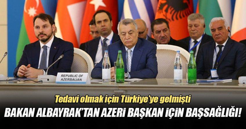 Bakan Albayrak'tan Aliyev için taziye mesajı