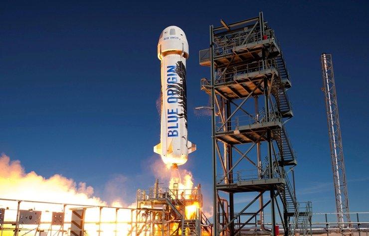 Amazon'un kurucusu Jeff Bezos'a ait roket şirketinin uzaya fırlattığı kapsül 119 kilometre yüksekliğe çıktı