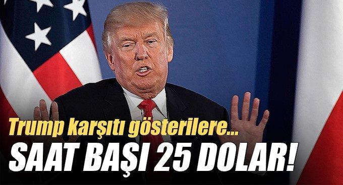 Donald Trump karşıtlarına 25 dolar!