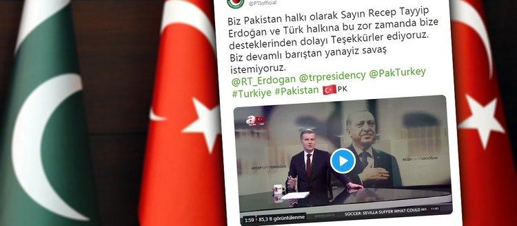 Pakistan iktidar partisinden Türkçe teşekkür