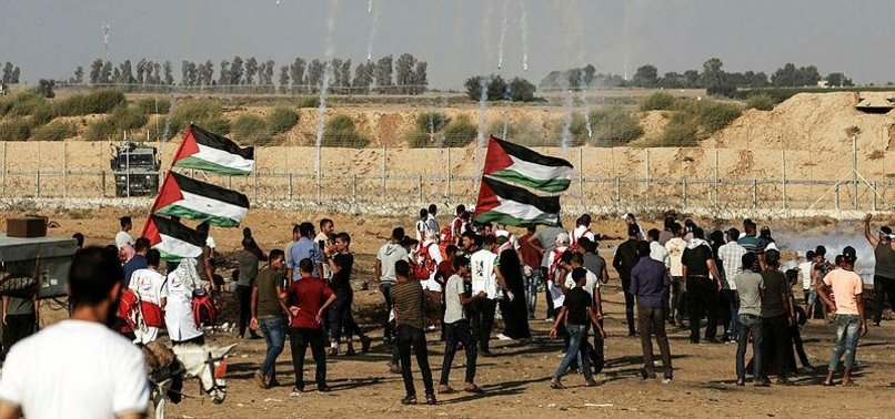 PALESTINIANS RALLY FOR 75TH CONSECUTIVE FRIDAY IN GAZA