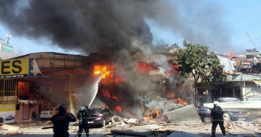 Samsun'da sanayi sitesinde patlama