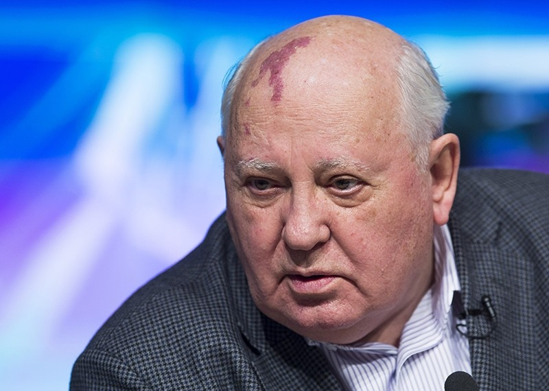 Former Soviet President Mikhail Gorbachev speaks during his open lecture ''Does a man change history, or history change a man?u201d i in Moscow, Russia, Saturday, March 30, 2013. (AP Photo)