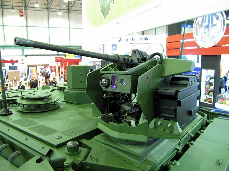 SARP (Stabilized Advanced Remote Platform) developed by Aselsan. (AA Photo)