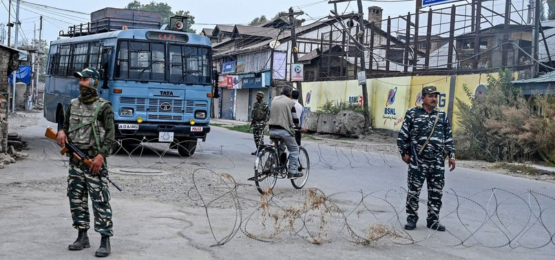 POLICE IMPOSE RESTRICTIONS IN INDIAN KASHMIR AFTER PAKISTAN PMS SPEECH