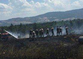 Çanakkal'de Jandarma Eğitim Alay Komutanlığı'nda yangın!