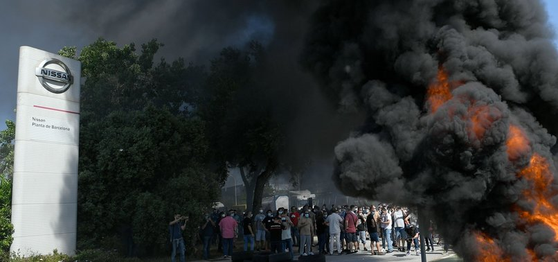 NISSAN TO CLOSE PLANT IN BARCELONA, PROTESTS BREAK OUT