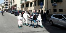 Italy's coronavirus deaths push higher, new cases hold steady