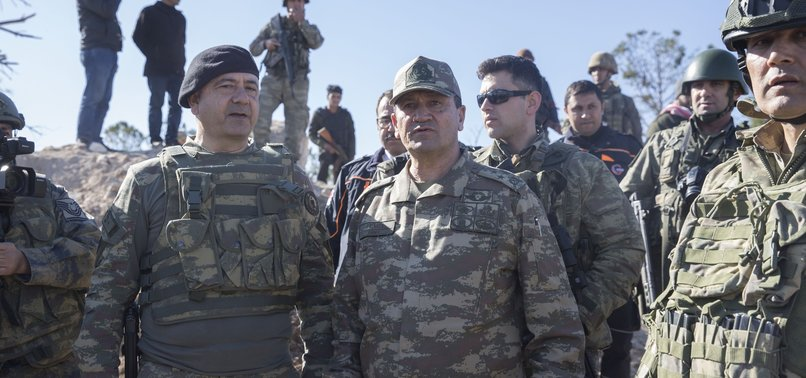 TURKISH COMMANDER VISITS PEAK CAPTURED FROM TERRORISTS