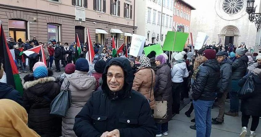 İtalyada ABDnin Kudüs kararı protesto edildi
