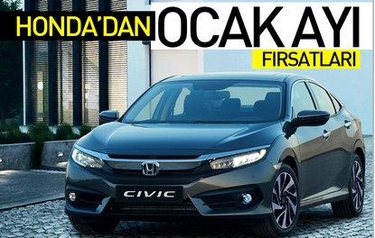 Honda'dan Ocak ayı fırsatları