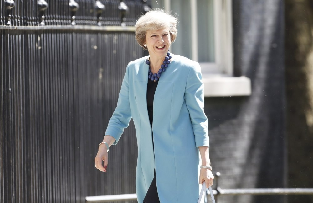 Britain's Prime Minister Theresa May arrives at 10 Downing Street in central London, July 13.