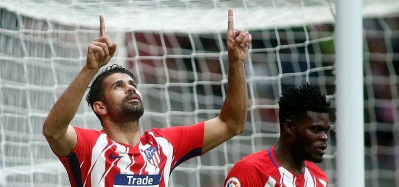 COSTA SCORES AGAIN, SENT OFF IN 2ND GAME BACK AT ATLETICO
