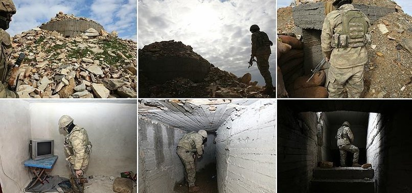 TERRORIST PYD/PKK TUNNEL USED TO ATTACK TURKISH TROOPS