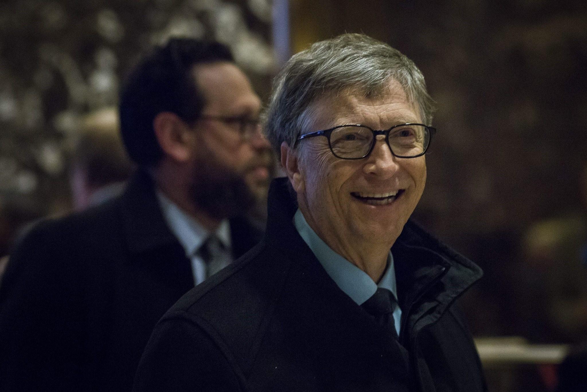 U.S. businessman Bill Gates arrives at Trump Tower in Manhattan, New York, 13 Dec 2016. (EPA Photo)