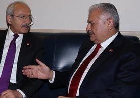 Başbakan Yıldırım TBMM'de Kemal Kılıçdaroğlu ile görüştü