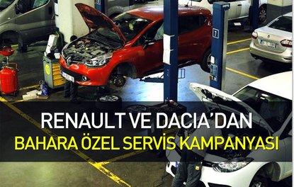 Renault ve Dacia'dan bahara özel servis kampanyası