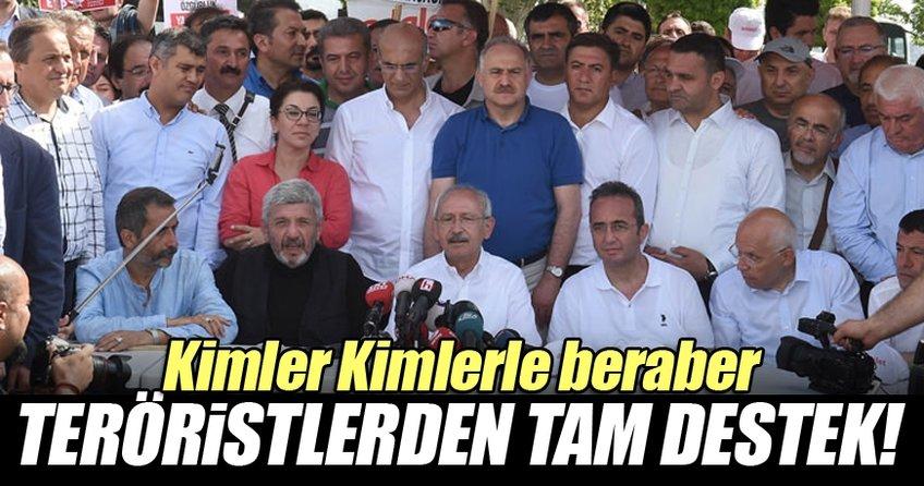 Kemal Kılıçdaroğlu'nun yürüyüşüne terörist desteği!