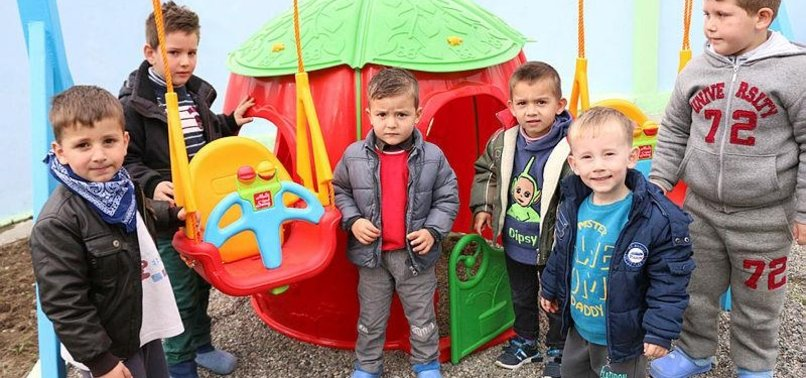 TURKISH AID AGENCY RENOVATES KINDERGARTEN IN ALBANIA