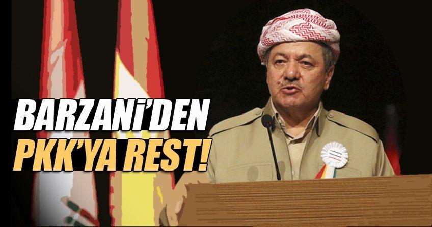 Mesut Barzani'den PKK'ya rest!