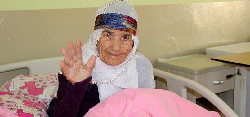 RESCUED ELDERLY FROM NORTHERN SYRIA THANK TURKEY