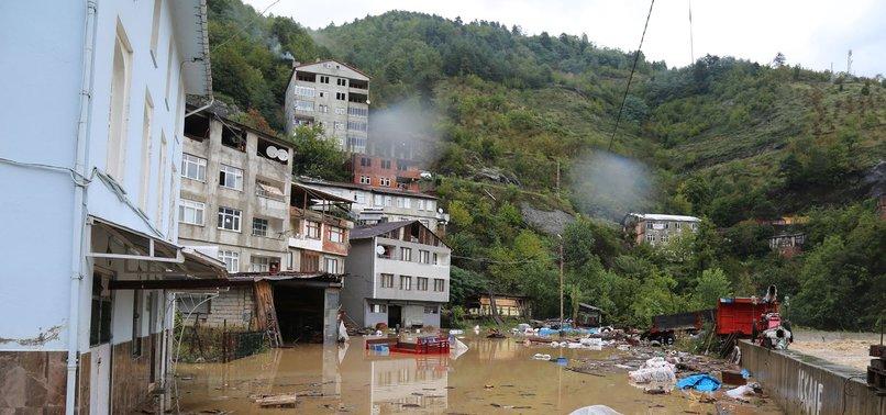 HEAVY RAINS CAUSE FLASH FLOODS IN NORTHEASTERN TURKEY