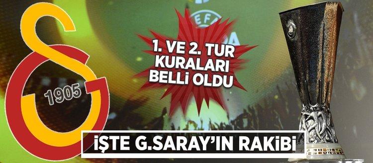 Galatasarayın rakibi belli oldu!