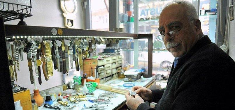 TURKISH WATCHMAKER HAPPY LIVING IN 50-YEAR TIME WARP