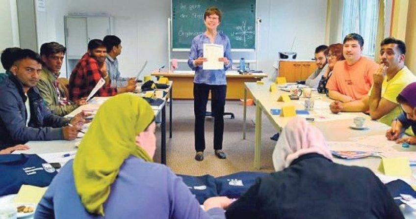 Mültecilere Alman değerleri dersi