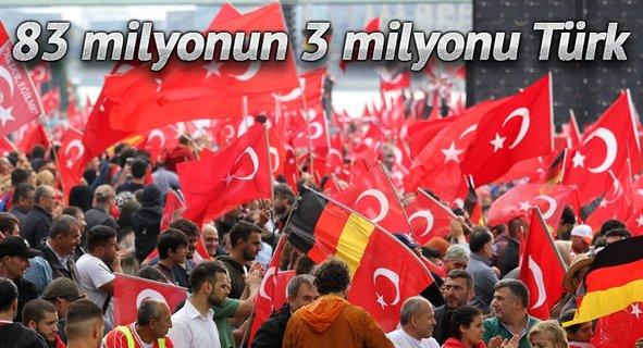 83 milyonun 3 milyonu Türk