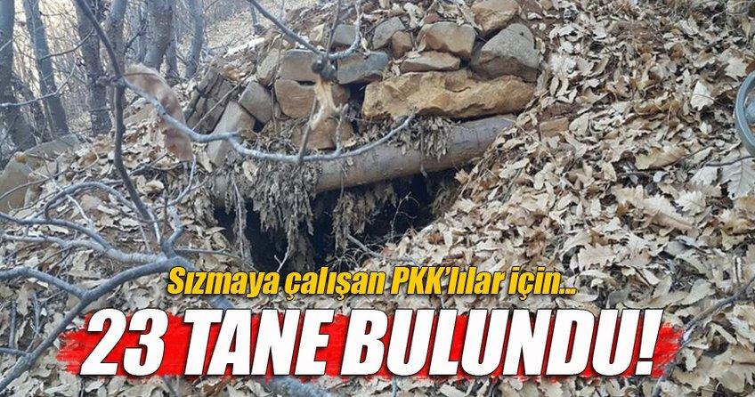 Bingöl Kiğı kırsalında PKK'ya darbe : 23 sığınak ve 6 mevzii bulundu