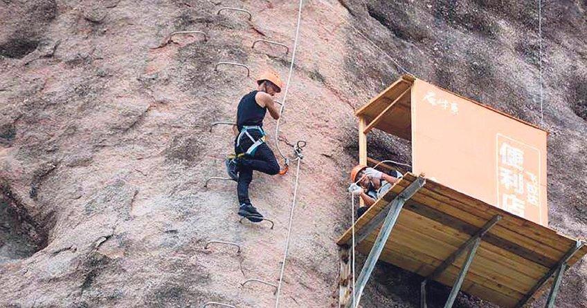 Böyle olur dağcıların bakkalı!