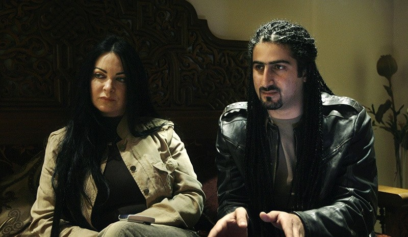 In this file photo, Omar Bin Laden is seen with his wife Zaina al Sabah (AP Photo)