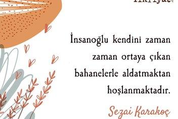 Sezai Karakoç'un  İnsanlığın Dirilişi kitabından alıntılar