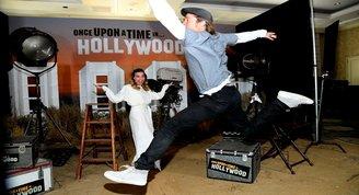 Once Upon a Time in Hollywood tanıtımında Brad Pitt rol çaldı