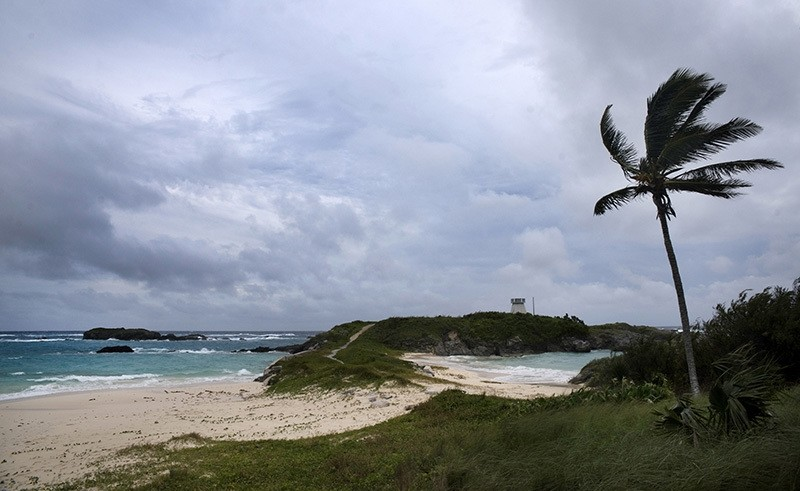 Wind and surf picks up as Hurricane Nicole approaches the Cooperu201a u00c4u00f4s Island Nature Reserve in St. Georges, Bermuda, Wednesday, Oct. 12, 2016. (AP Photo)