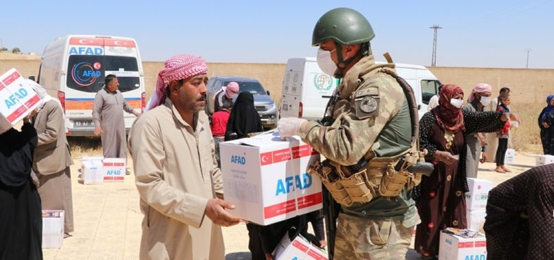 TURKEYS AFAD DISTRIBUTES FOOD PACKAGES TO NEEDY FAMILIES IN NORTHERN SYRIA