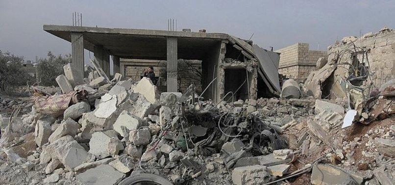 REGIME, RUSSIAN WARPLANES HIT SYRIA'S IDLIB, KILLING 12