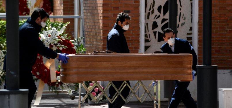 SPAINS CORONAVIRUS DEATH TOLL SURPASSES 4,000