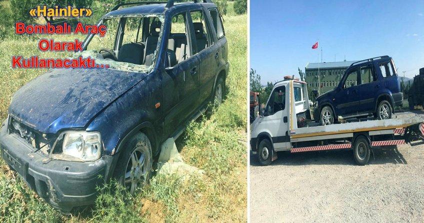 Teröristler bombalı araçla birlikte yakalandı!