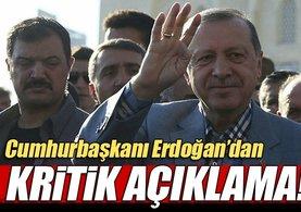 Cumhurbaşkanı Erdoğan'dan Bayram namazı çıkışı kritik açıklama